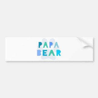 Papa bear bumper stickers