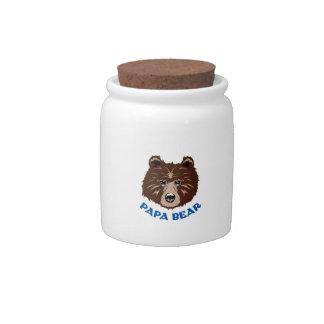 PAPA BEAR CANDY DISHES