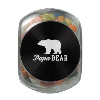 Papa Bear Glass Candy Jar