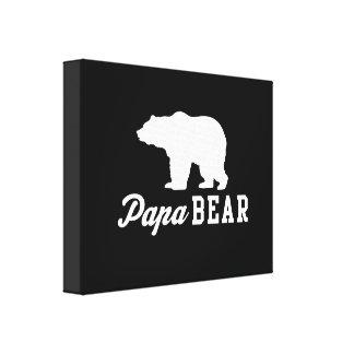 Papa Bear Stretched Canvas Print