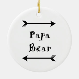 Papa Bear Ceramic Ornament