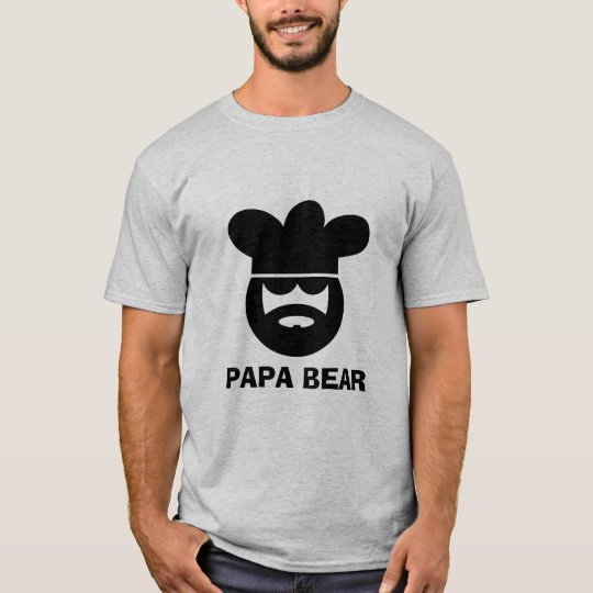 Papa bear chef cook t shirt for men