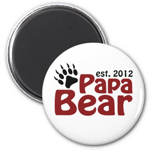 papa bear claw 2012 2 inch round magnet