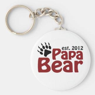 papa bear claw 2012 basic round button keychain