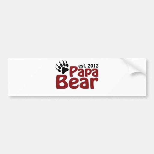 papa bear claw 2012 bumper sticker