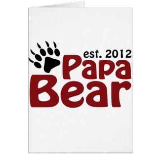 papa bear claw 2012 card