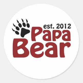papa bear claw 2012 classic round sticker