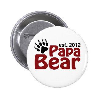 papa bear claw 2012 pinback button