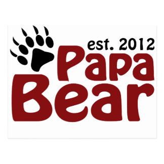 papa bear claw 2012 postcard