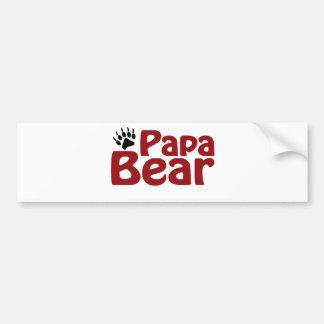 Papa Bear Claw Bumper Stickers