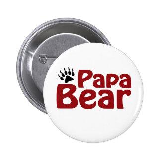 Papa Bear Claw 2 Inch Round Button