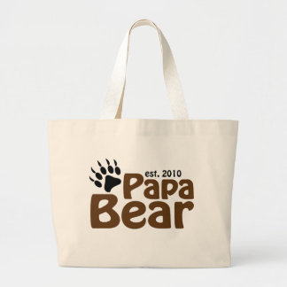 papa bear claw est 2010 canvas bag