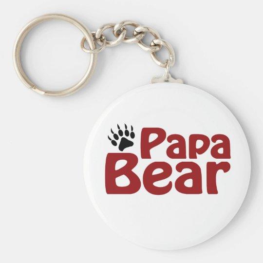 Papa Bear Claw Keychain