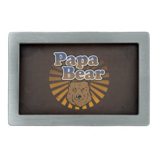Papa Bear, Cool Fathers Day Vintage Look Belt Buckles
