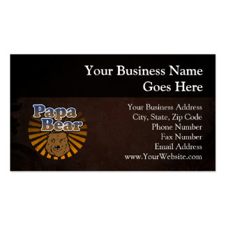 Papa Bear, Cool Fathers Day Vintage Look Business Card