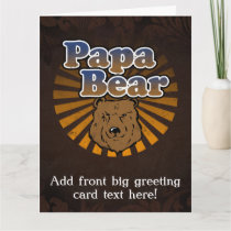 Papa Bear, Cool Fathers Day Vintage Look Card