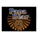 Papa Bear, Cool Fathers Day Vintage Look Greeting Card