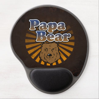 Papa Bear, Cool Fathers Day Vintage Look Gel Mouse Pad