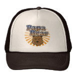 Papa Bear, Cool Fathers Day Vintage Look Hat