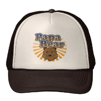Papa Bear, Cool Fathers Day Vintage Look Trucker Hat