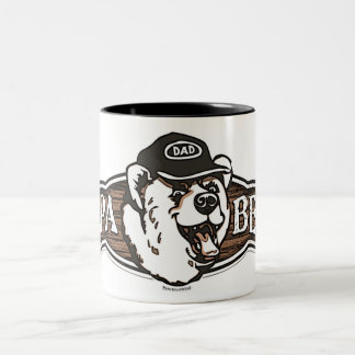 Papa Bear Dad Two-Tone Coffee Mug