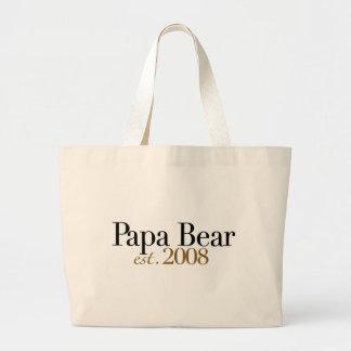 Papa Bear Est 2008 Canvas Bags
