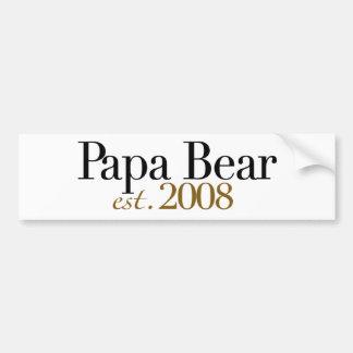 Papa Bear Est 2008 Bumper Sticker