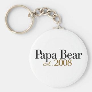 Papa Bear Est 2008 Key Chain