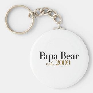 Papa Bear Est 2009 Keychain