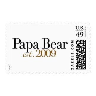Papa Bear Est 2009 Stamps