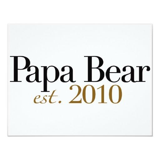 Papa Bear Est 2010 4.25x5.5 Paper Invitation Card