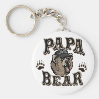 Papa Bear Father's Day Gear Key Chains