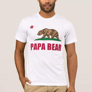 Papa Bear Flag of California T-Shirt