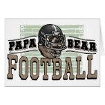 Papa Bear Football by Mudge Studios Greeting Card