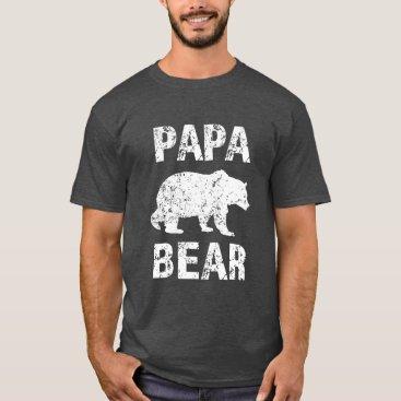 Beach Themed Papa Bear funny Men's Grandpa Shirt