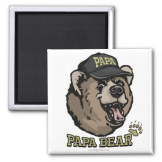 Papa Bear Gifts for Dad Fridge Magnets