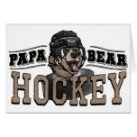 Papa Bear Hockey by Mudge Studios Greeting Card