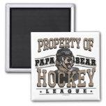 Papa Bear Hockey by Mudge Studios Refrigerator Magnet