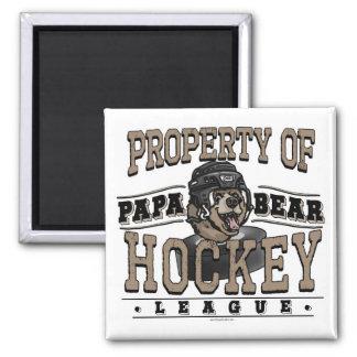 Papa Bear Hockey by Mudge Studios Magnet