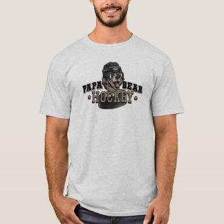 Papa Bear Hockey by Mudge Studios T-Shirt