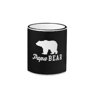 Papa Bear Ringer Coffee Mug