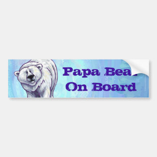 Papa Bear Polar Bear Bumper Sticker