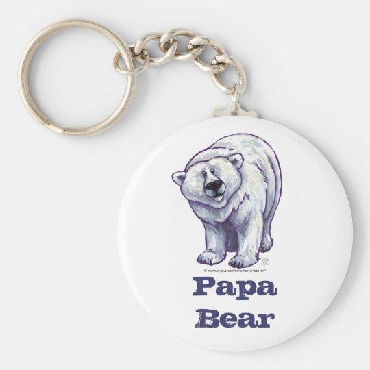 Papa Bear Polar Bear Key Chain