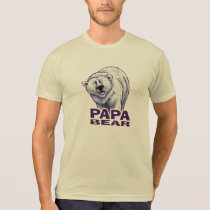 Papa Bear Polar Bear Men's Light Tee