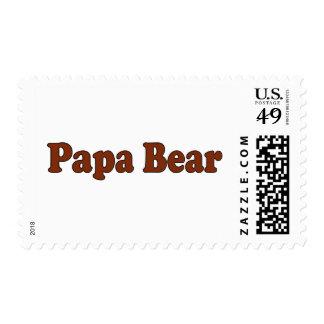 Papa Bear Postage Stamp