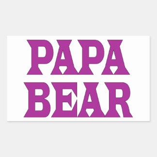 Papa Bear Rectangular Sticker