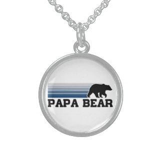 Papa Bear Sterling Silver Necklace