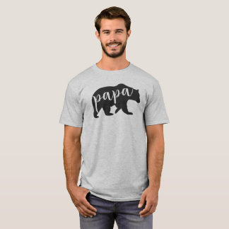 Papa Bear T-shirt for Dad's Mama Baby Bear