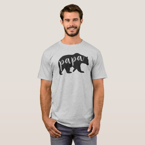 Papa Bear T_shirt for Dads Mama Baby Bear