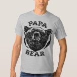 """Papa Bear"" Vintage Style Black Bear Dad T Shirt"